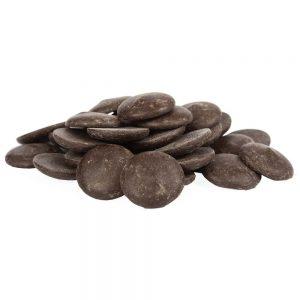 Pastilles au chocolat noir 72%